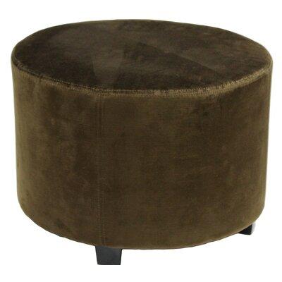 Lyric 22 Round Ottoman Upholstery: Brown Velvet