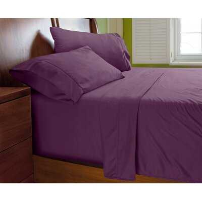 Luxury Elegant Designer Collection Bed Deep Pocket ? Extra Soft Sheet Set Color: Violet, Size: Twin