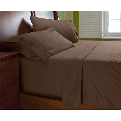 Luxury Elegant Designer Collection Bed Deep Pocket ? Extra Soft Sheet Set Color: Chocolate Brown, Size: Queen