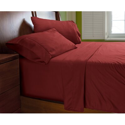 Luxury Elegant Designer Collection Bed Deep Pocket ? Extra Soft Sheet Set Color: Burgundy, Size: Queen
