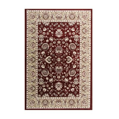 Jack Red Area Rug Rug Size: 53 x 77
