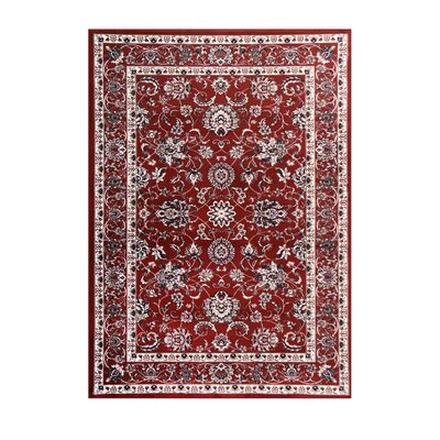 Arabella Red Area Rug Rug Size: 4 x 6