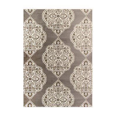 Jack Brown / White Area Rug Rug Size: 22 x 37