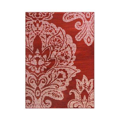 Bastille Red Area Rug Rug Size: 7 x 10
