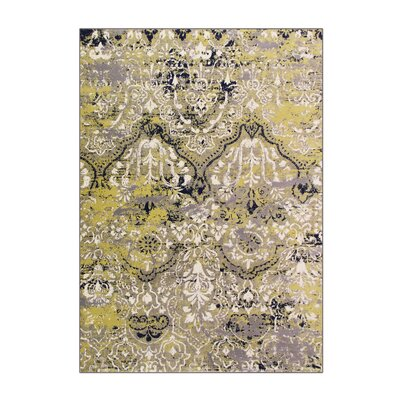 Bastille Yellow Area Rug Rug Size: 9 x 12