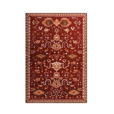 Sabanc Red Area Rug Rug Size: 92 x 124
