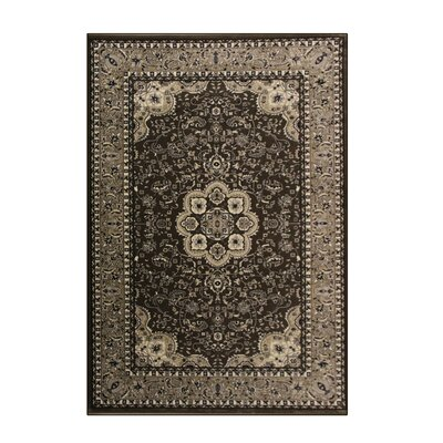 Kensington Brown Area Rug Rug Size: 8 x 11