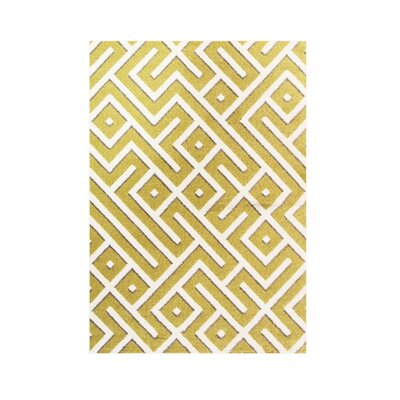 Highline Yellow Area Rug Rug Size: 4 x 5