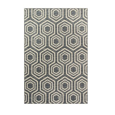 Highline Aqua Area Rug Rug Size: 4 x 5
