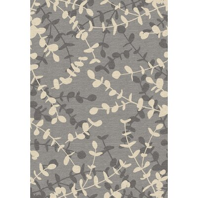 Dexter Gray/Cream Area Rug Rug Size: 53 x 77