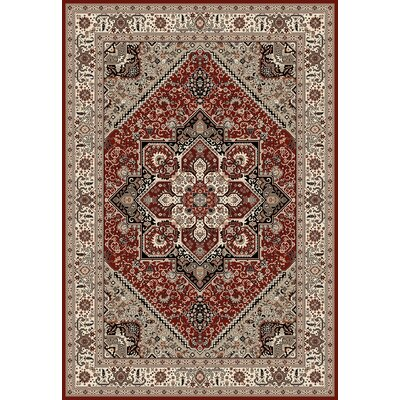 Landy Red/Beige Area Rug Rug Size: 710 x 106