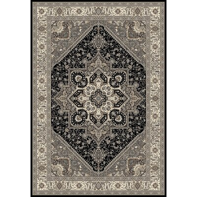 Landy Black/Gray Area Rug Rug Size: 92 x 126