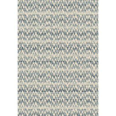 Burgoyne Blue Area Rug Rug Size: 53 x 77