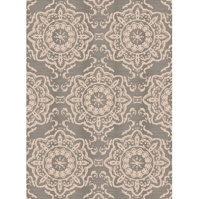 Cazares Gray/Beige Indoor/Outdoor Area Rug Rug Size: 92 x 126
