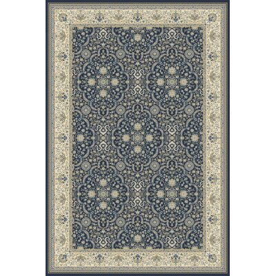 Landy Navy/Tan Area Rug Rug Size: 22 x 37