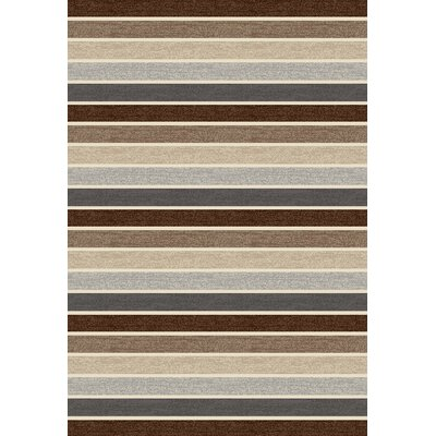 Vasques Brown Area Rug Rug Size: 92 x 126