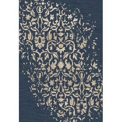 Highland Peacock Blue Area Rug Rug Size: 53 x 77