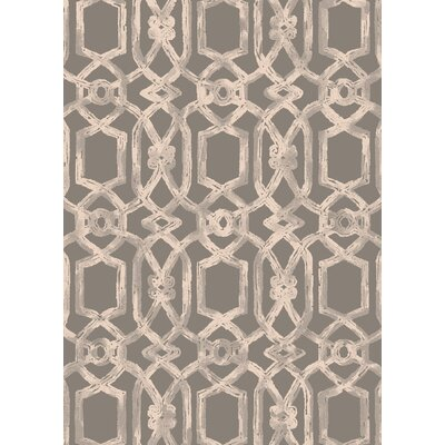 Cazares Gray/Beige Indoor/Outdoor Area Rug Rug Size: 53 x 77