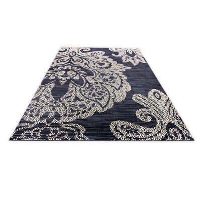 Klahn Blue Area Rug Rug Size: 92 x 124
