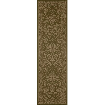 Plymouth Green/Beige Indoor/Outdoor Area Rug Rug Size: Runner 27 x 9