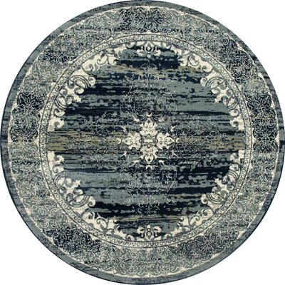 Channel Teal Blue Area Rug Rug Size: ROUND 710