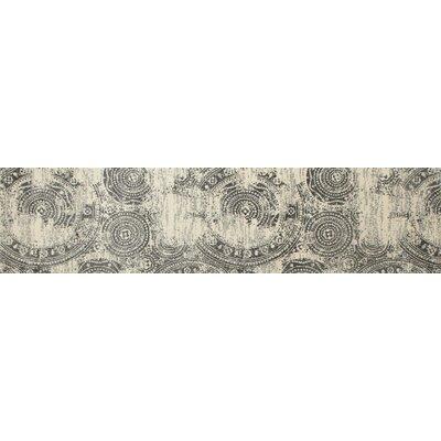 Dexter Gray/Cream Area Rug Rug Size: Runner 22 x 82