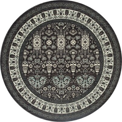 Channel Gray Area Rug Rug Size: Round 53