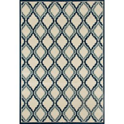 Highland Beige/Teal Area Rug Rug Size: 710 x 106