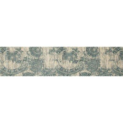 Dexter Dark Blue/Beige Area Rug Rug Size: Runner 22 x 82