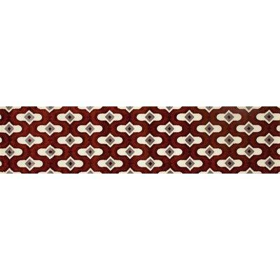 Dexter Burgundy/Beige Area Rug Rug Size: Runner 22 x 82