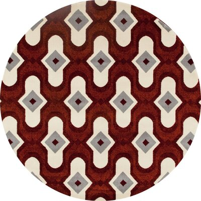 West Hewish Burgundy/Beige Area Rug Rug Size: 311 x 57