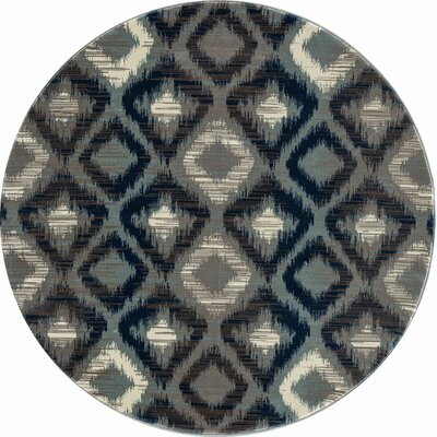 Hershberger Gray Area Rug Rug Size: ROUND 53