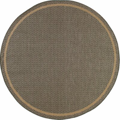 Beaminster Gray Indoor/Outdoor Area Rug Rug Size: ROUND 6'7