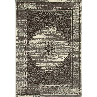Channel Cream/Brown Area Rug Rug Size: 710 x 1010