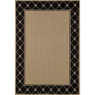 Beaminster Black/Beige Indoor/Outdoor Area Rug Rug Size: 710 x 106