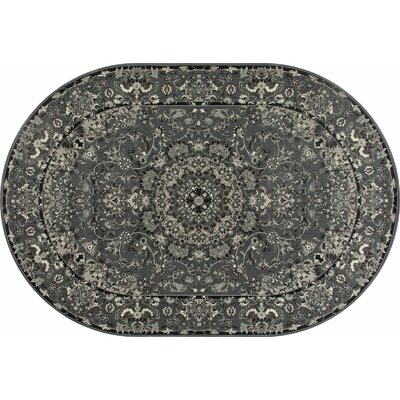 Channel Gray Area Rug Rug Size: 710 x 1010