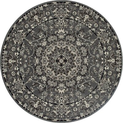 Chelsea Gray Area Rug Rug Size: Round 53