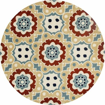 Vasquez Machine Woven Beige Indoor/Outdoor Area Rug Rug Size: ROUND 710