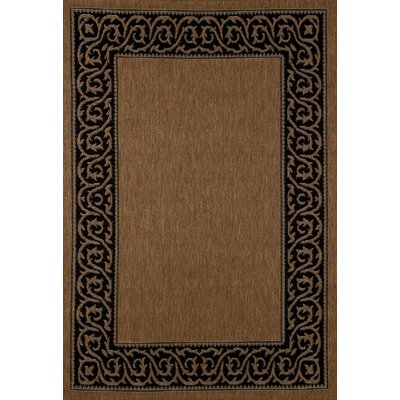 Beaminster Brown/Black Indoor/Outdoor Area Rug Rug Size: 710 x 106