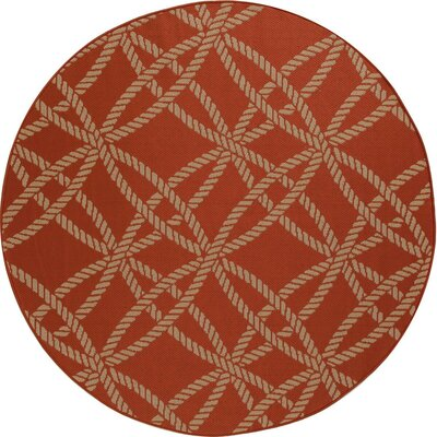 Criner Red Indoor/Outdoor Area Rug Rug Size: ROUND 710