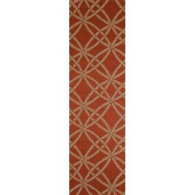 Criner Red Indoor/Outdoor Area Rug Rug Size: Runner 27 x 9