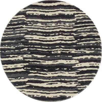 Chelsea Gray/Beige Area Rug Rug Size: Round 53