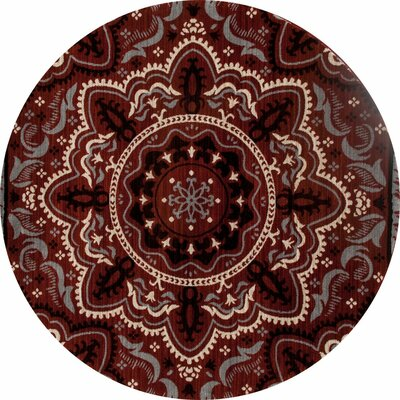 Highland Red Area Rug Rug Size: ROUND 53