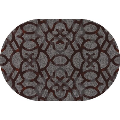 Delanie Red Area Rug Rug Size: OVAL 53 x 77
