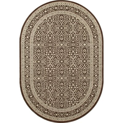 Kensington Brown Area Rug Rug Size: Oval 5 x 8