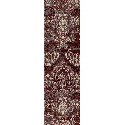 Hewish Red Area Rug Rug Size: Runner 22 x 77