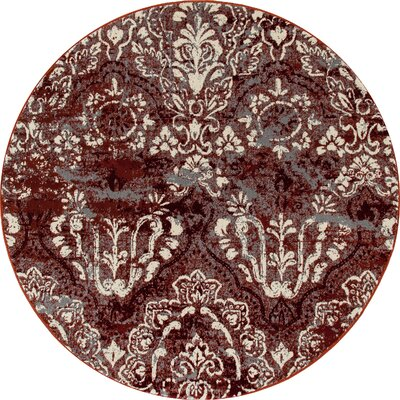 Hewish Red Area Rug Rug Size: ROUND 710