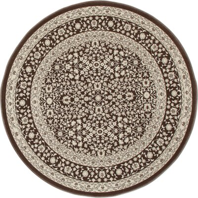 Lang Brown Area Rug Rug Size: ROUND 53