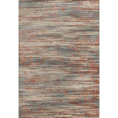 Burgos Gray/Beige Area Rug Rug Size: 53 x 77