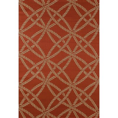 Plymouth Red Indoor/Outdoor Area Rug Rug Size: 53 x 77